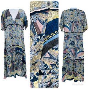 JOHNNY WAS   Floral Print Silk Maxi Dress NWOT